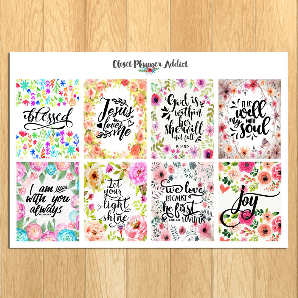 Christian Bible Verses and Scriptures Planner Stickers (MS-020)