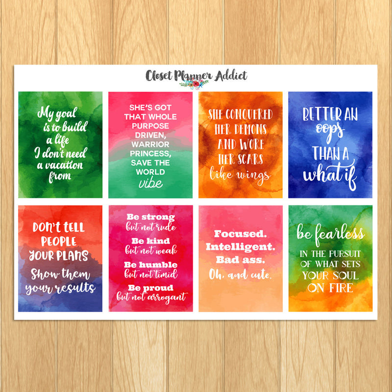 Motivational & Inspirational Quotes Planner Stickers (MS-022)