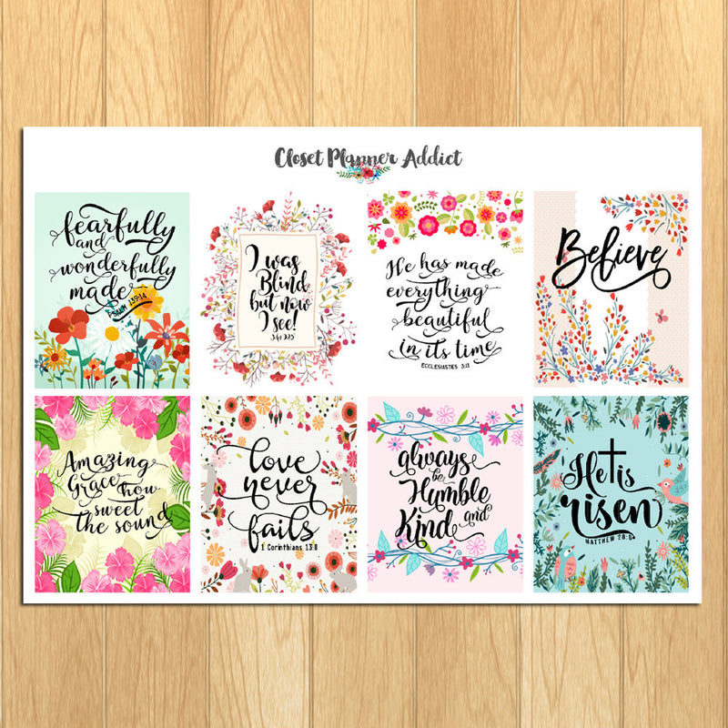Christian Bible Verses and Scriptures Planner Stickers (MS-021)