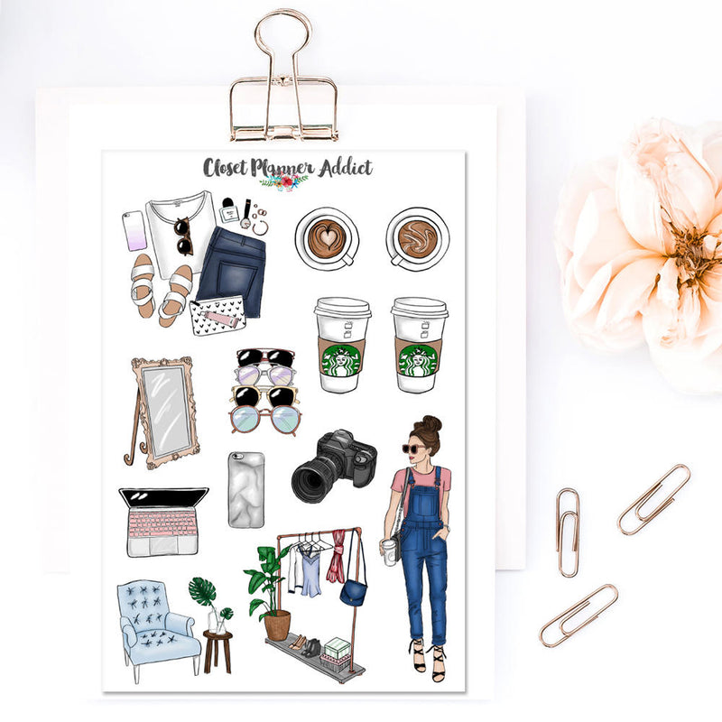 Blogger Babe Planner Stickers (MGB-JUL17)