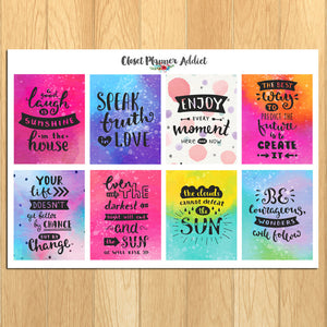 Motivational & Inspirational Quotes Planner Stickers (MS-027)
