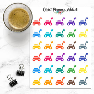 Lawnmower Icon Planner Stickers (I-051)