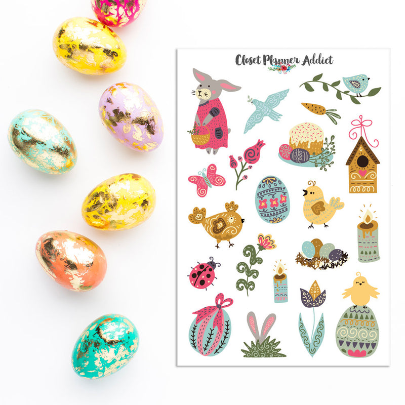 Scandinavian Easter Planner Stickers (S-308)