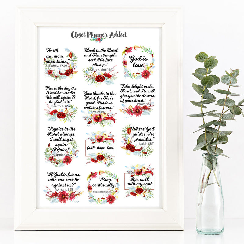 Christian Bible Verses and Scriptures Planner Stickers (MS-023)