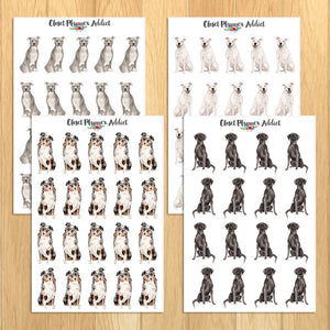 Watercolour Dogs Planner Stickers (S-325)