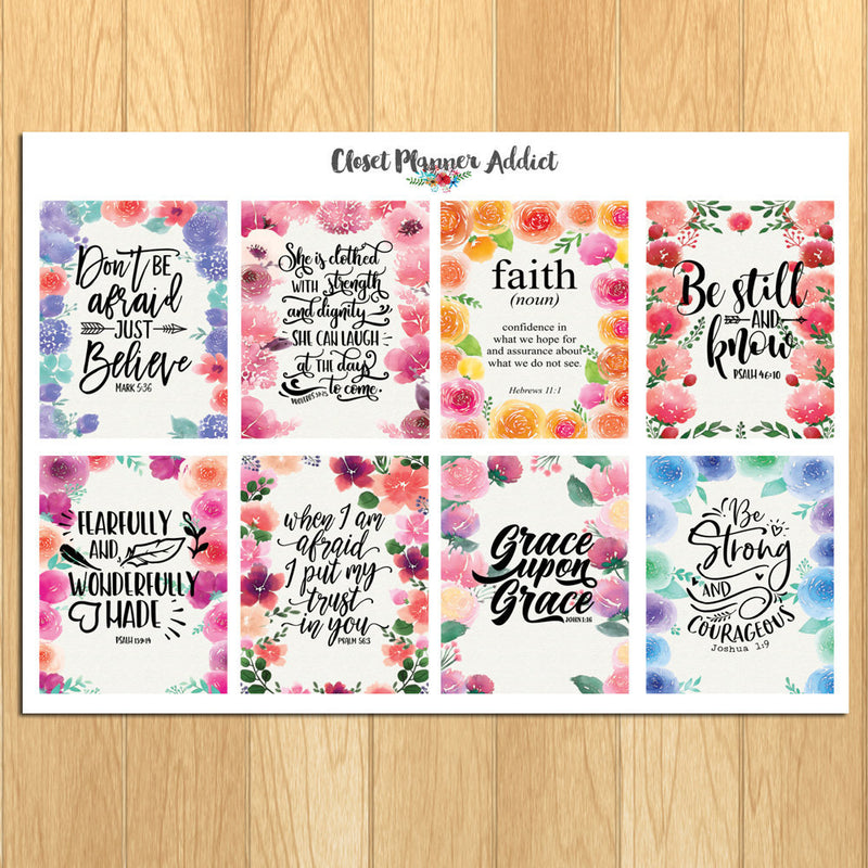 Christian Bible Verses and Scriptures Planner Stickers (MS-028)