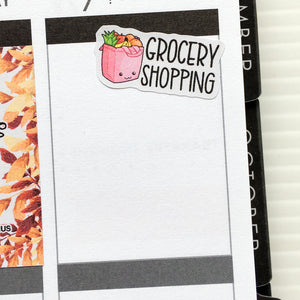 Grocery Shopping Planner Stickers (S-321)