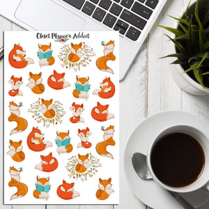 Cute Foxes Planner Stickers (S-206)