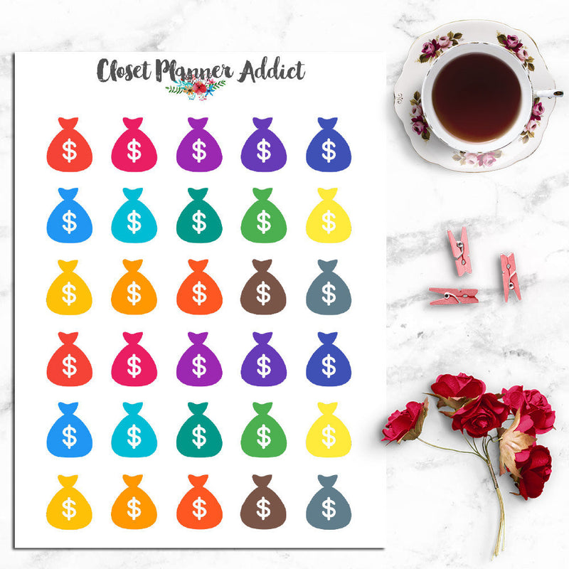 Pay Day Icon Planner Stickers (I-014)