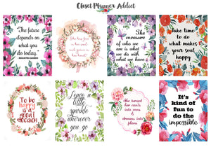 Motivational & Inspirational Quotes Planner Stickers (MS-005)