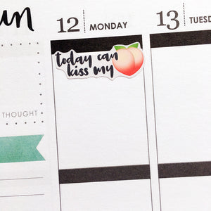 Today Can Kiss My Ass Planner Stickers (S-336)