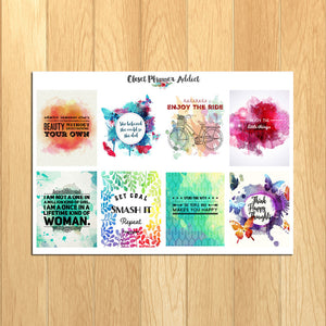 Motivational & Inspirational Quotes Planner Stickers (MS-003)