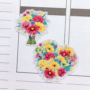 Watercolour Gerberas Planner Stickers (S-329)