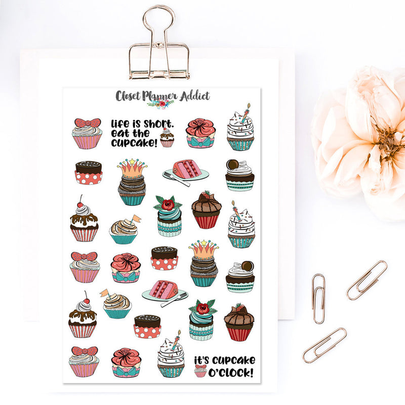 Cupcakes Planner Stickers (S-337)