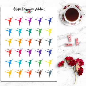 Ballerina Icons Planner Stickers (I-002)