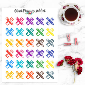 Stationery Icon Planner Stickers (I-018)