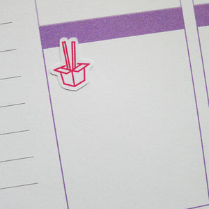 Chinese Takeaway Icons Planner Stickers (I-005)