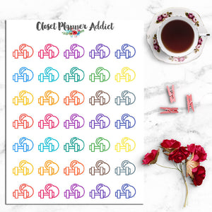Dumbbell & Kettlebell Planner Stickers (I-008)