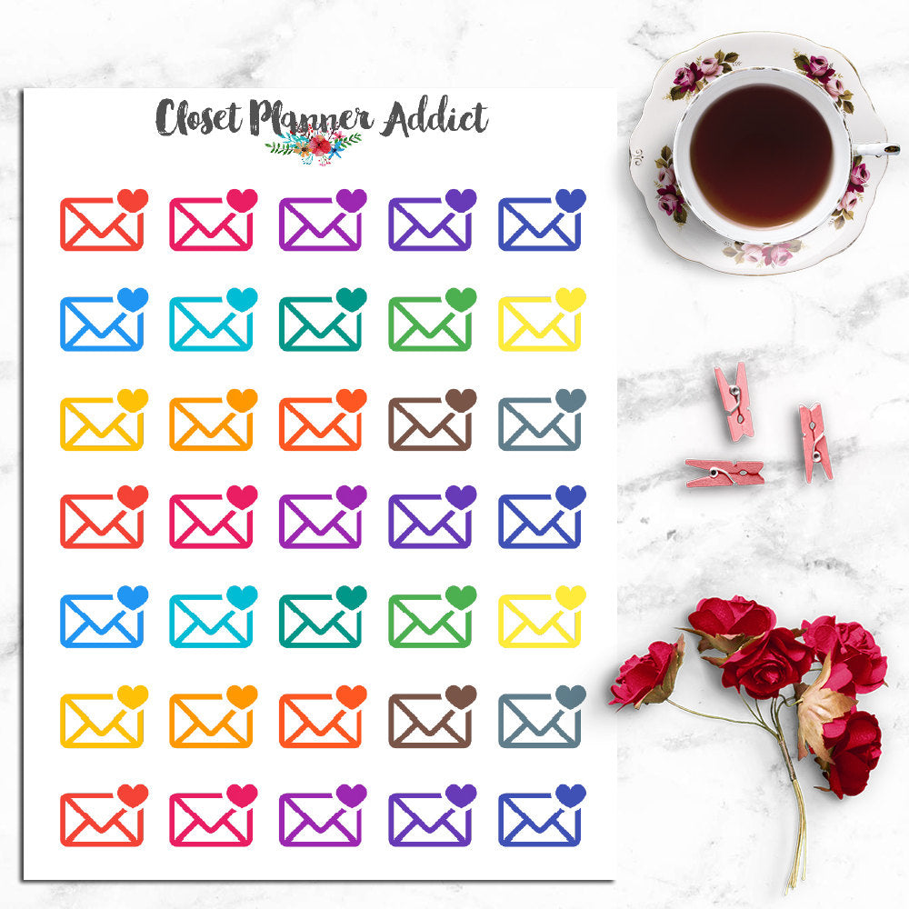 Happy Mail Icon Planner Stickers (I-012)