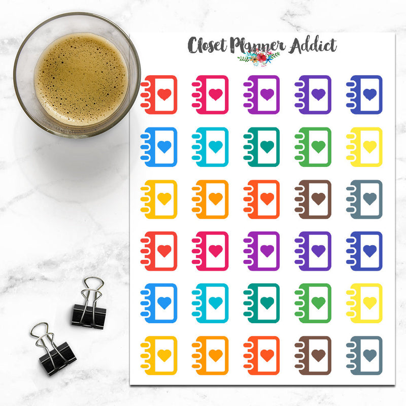 Planner Diary Journal Icons Stickers (I-039)