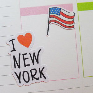 I Love New York Planner Stickers