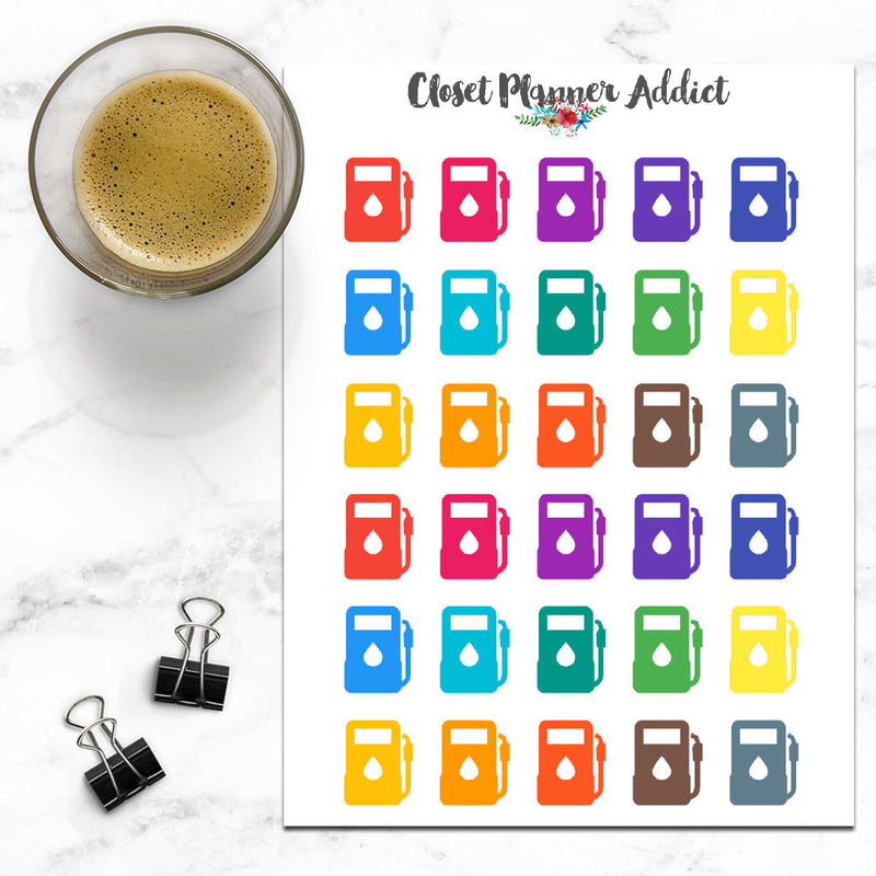Petrol Icons Planner Stickers (I-037)