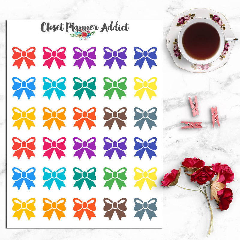 Ribbons Icons Planner Stickers (I-040)