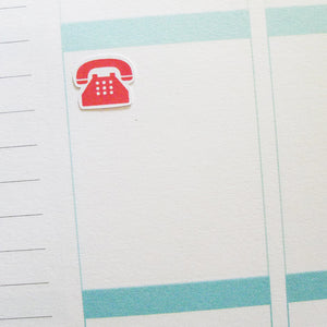 Telephone Icons Planner Stickers (I-036)