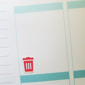 Rubbish Bin Icons Planner Stickers (I-041)