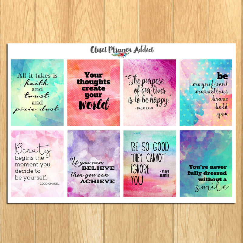 Motivational & Inspirational Quotes Planner Stickers (MS-010)