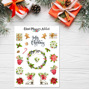 Jolly Christmas Planner Stickers (S-353)