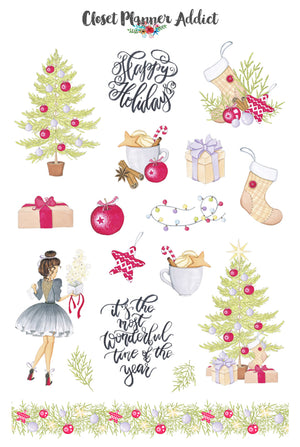 Magic of Christmas Planner Stickers (S-359)