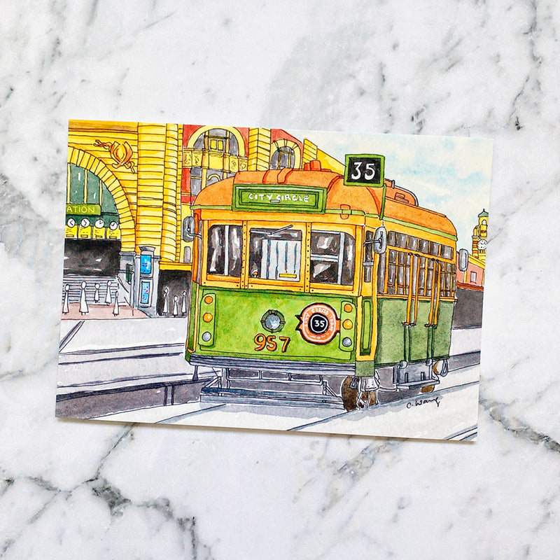 Melbourne Tram City Circle No 35 Postcard (PC-007)