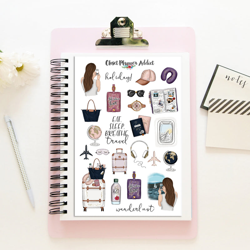 Wanderlust Planner Stickers (MGB-JUN18)