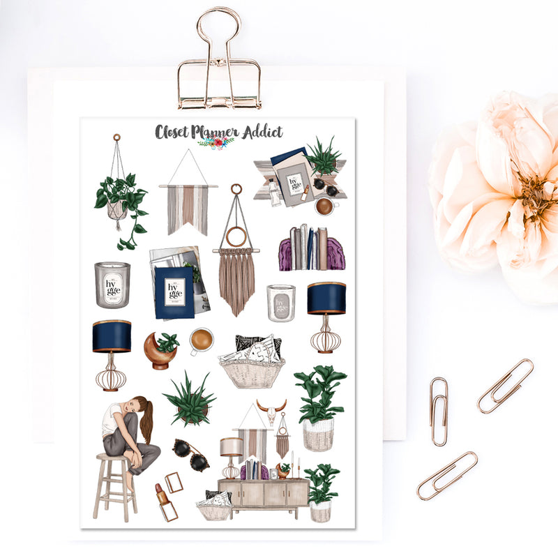 Time For Hygge Planner Stickers (MGB-MAR18)
