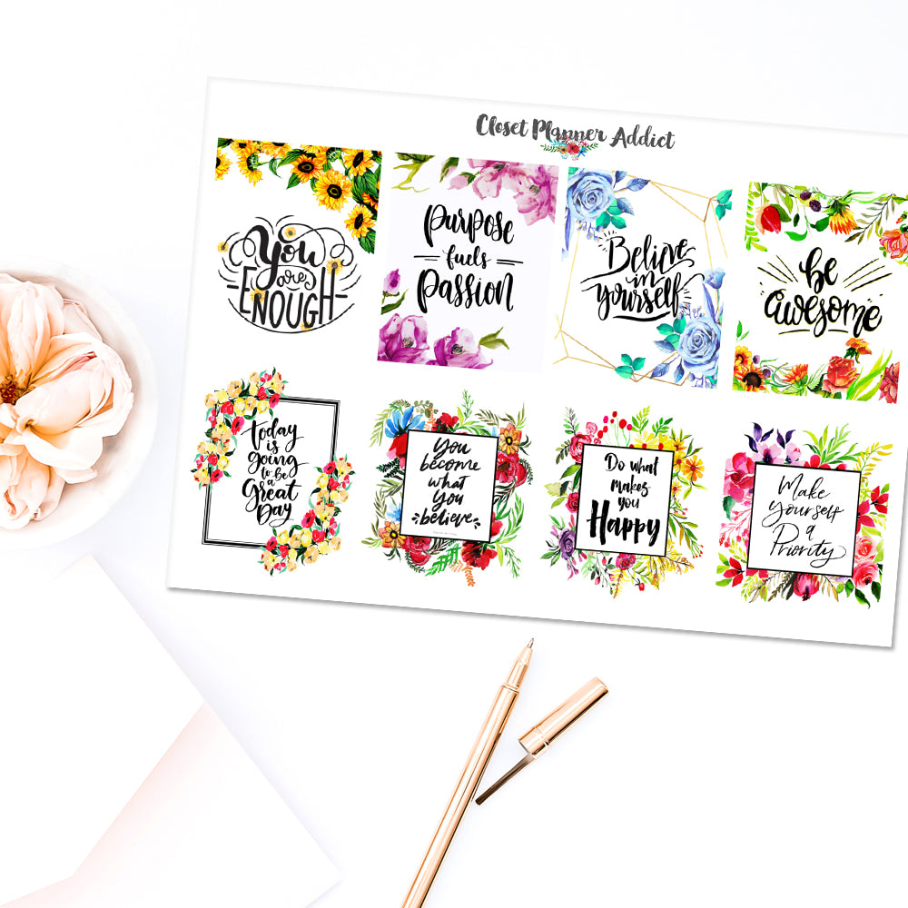 Christian Bible Verses and Scriptures Planner Stickers (MS-029)