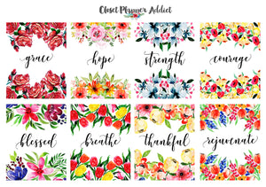 Christian Bible Verses and Scriptures Planner Stickers (MS-030)