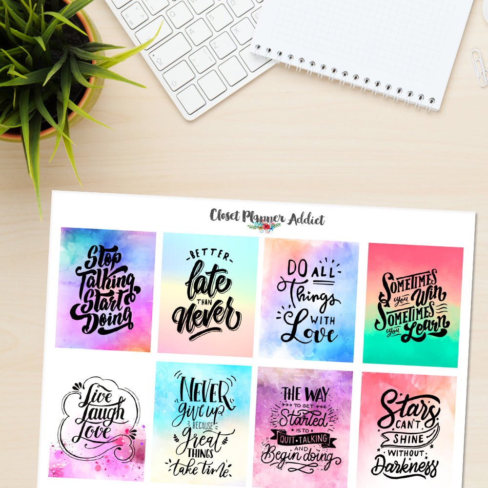 Motivational & Inspirational Quotes Planner Stickers (MS-031)
