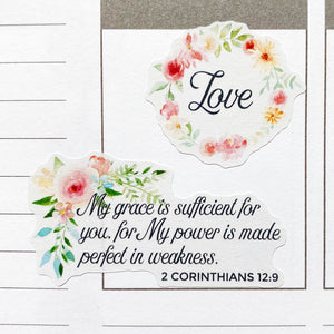 Christian Bible Verses and Scriptures Planner Stickers (MS-032)