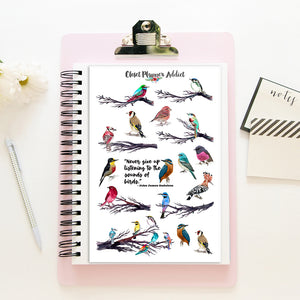 Colourful Birds Planner Stickers (MGB-NOV19)