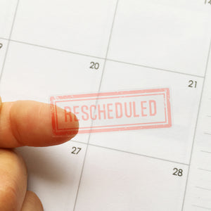Transparent Cancelled Rescheduled Planner Stickers (FP-021)
