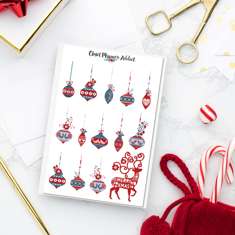 Scandinavian Christmas Planner Stickers (S-354)