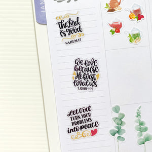 Christian Bible Verses Scriptures Planner Stickers | Clear Stickers (MS-035)