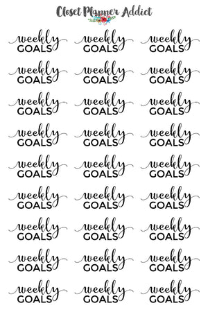 Weekly Goals Planner Stickers (FP-026)