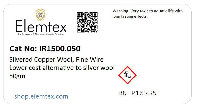 IR1500, Silvered Copper Wire, lower cost alternative to silver wool
