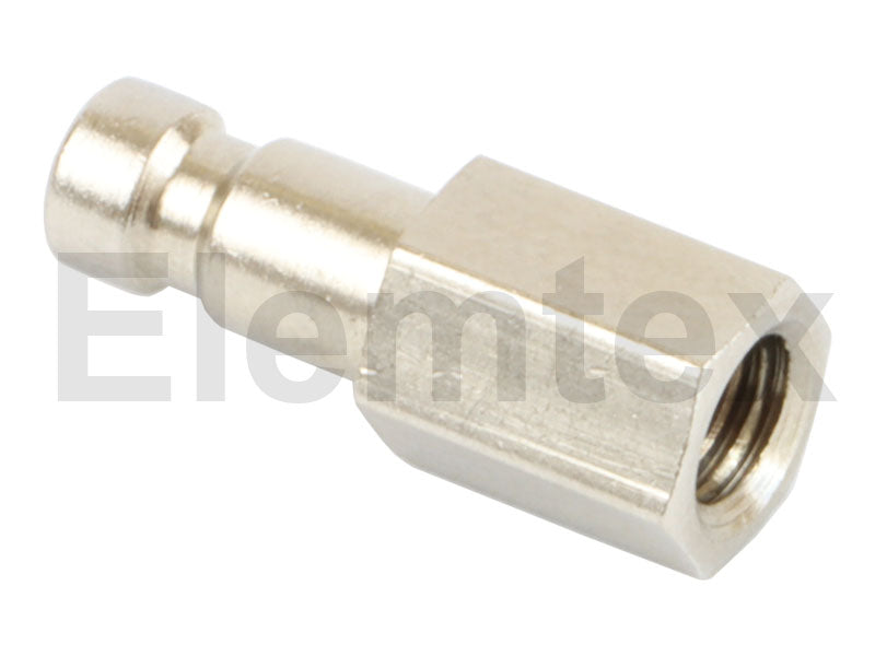 PS1005, Quick Connector, Male Plug, 2mm tube, 6MB thread