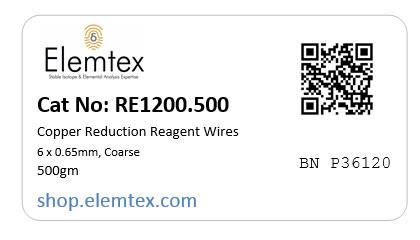 RE1200, Copper Wires Reduced 6 x 0.65mm, Coarse Wires, Standard Purity