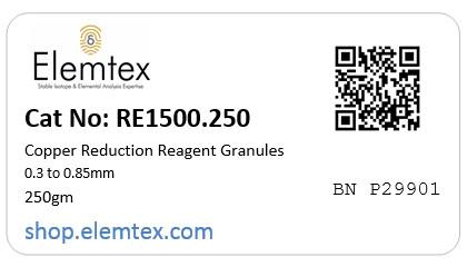 RE1500, Copper Reduction Reagent Granules 0.3 to 0.85mm