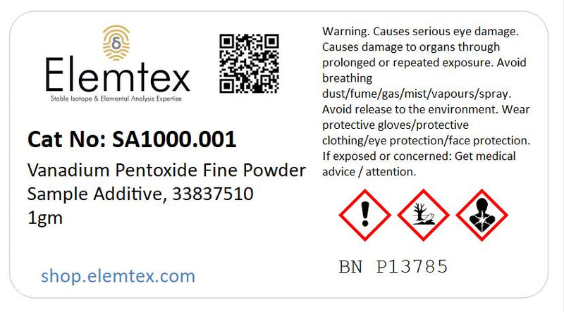 SA1000, Vanadium Pentoxide Fine Powder Sample Additive, 33837510