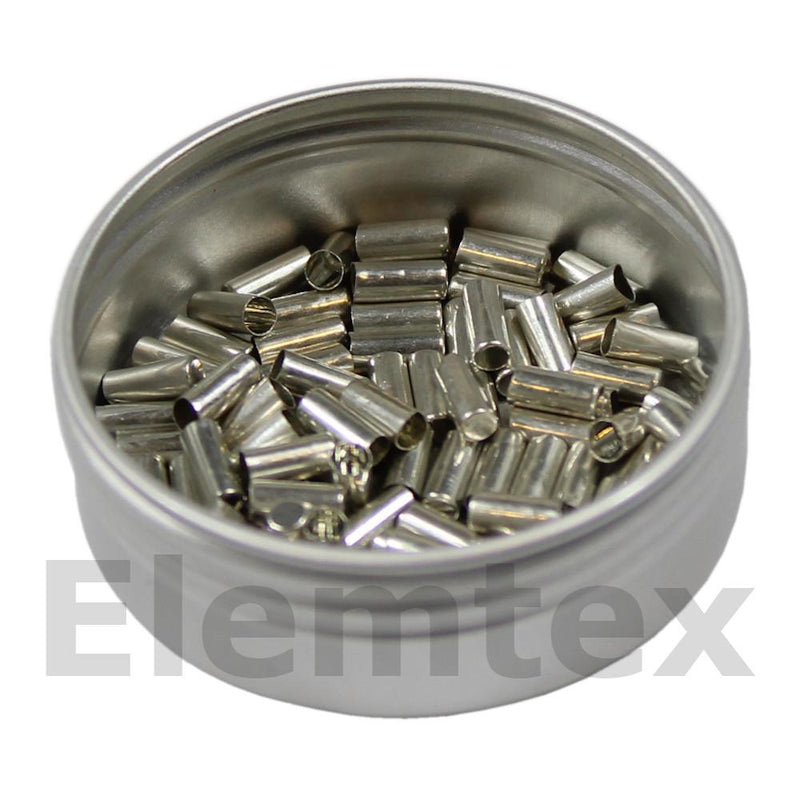 SE1400, Tin Capsules Smooth Wall Flat Base 5 x 2mm Standard Clean